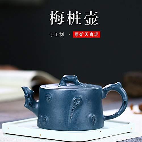 GuoQiang Zhou theepot erts Pile Plum Groene Klei potten Hand-kung fu Thee Gift Paarse modder