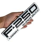 1PCS F-250 Lariat Super Duty Side Fender F250 Emblems Badge 3D logo Compatible for F250 Lariat (Black/Chrome)