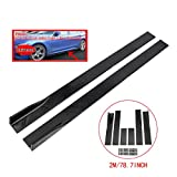 ZEEOS Universal PP Black Side Skirts Rocker Extension Panel Splitter Lip For Mitsubishi,Subaru,VW,Mazda,Mustang,etc.Length 2M/78.7inch
