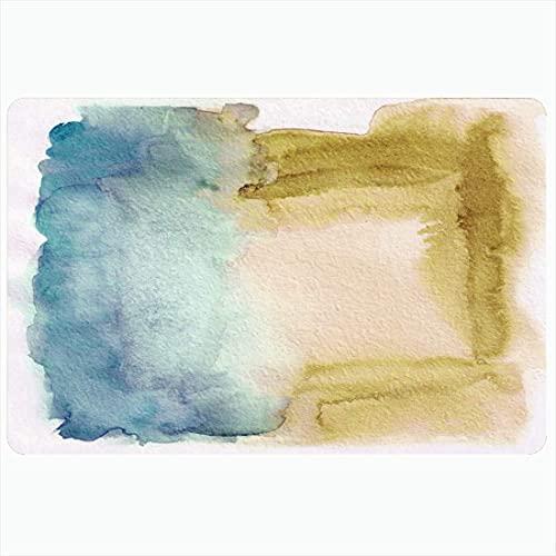 Alfombrilla de baño Cerúleo oscuro para letras Mezcla Verde azulado Dibujo Bronce Ocre Profundo Thw Texturas abstractas Dibujado más claro Alfombras de baño de felpa decorativas Alfombras de decoració