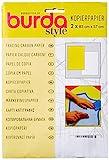 Burda 2Gcar-Papel de carbono para calcar (83 x 57 cm, 2 hojas), color amarillo y blanco, T...