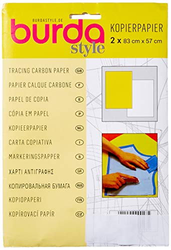 Burda Z001608 Transparentpapier 2Gcar, gelb/weiß, 83 x 57 cm, 2 Blatt, Einheitsgröße