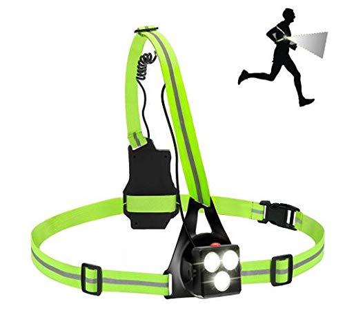 Running Light LED Runner Chest Lights with Reflective Straps 3 Modes Body...