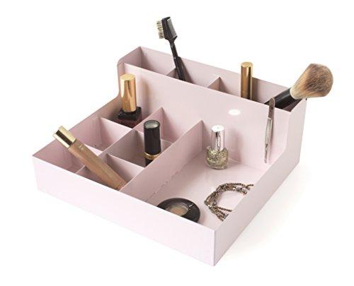 Gelco Design 709821 Boite DE Rangement A Maquillage, Métal, Blush, 24 x 22 x 10 cm