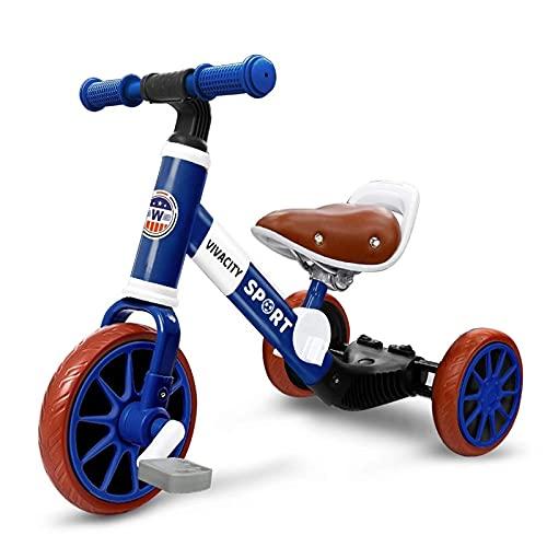 LINQ BERSEY Kids Trike - BICIQUE Balance, Multifuncional DOSTERNA, ABSORTE DE Archivo, Scooter con Ruedas Delanteras Grandes, Azul (Color : Blue)
