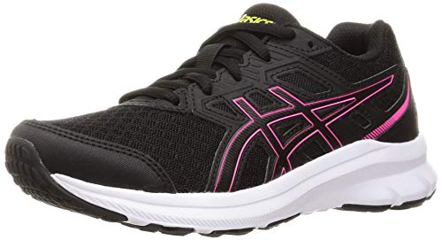 ASICS Damen Jolt 3 Road Running Shoe, Black/Hot Pink, 39 EU