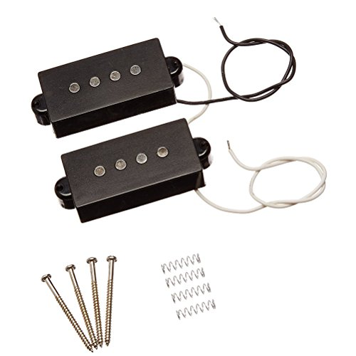 ROSENICE Pickup basso elettrico trasduttore microfono filo altoparlante/amplificatore per acustica elettrica Bass(Black)