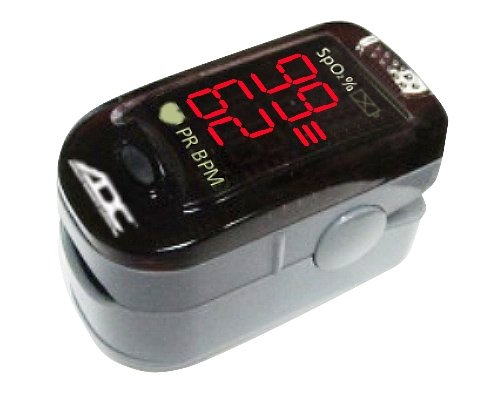 ADC Advantage 2200 Digitales Fingertip-Pulsoximeter, Schwarz, Erwachsene