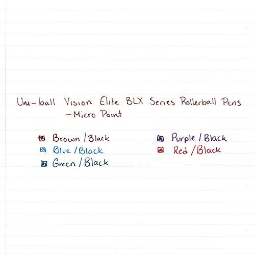 Uni-Ball Elite BLX Series Stick Rollerball Pens, Micro Point, Purple/Black Ink, 12 Count Photo #3