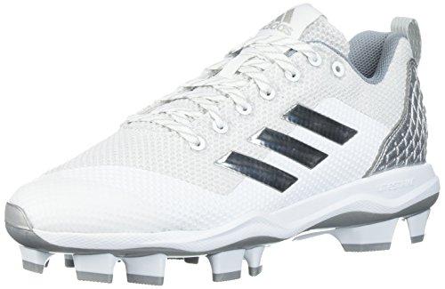 adidas Herren Freak X Carbon Mid Baseballschuh, Wei (FTWR Weiß, Silver Met, Hellgrau), 50 EU
