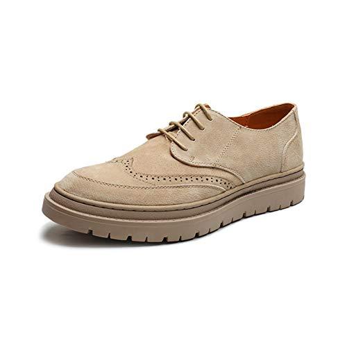 Heren Jurk Schoenen Brogue Mannen Oxford Voor Jurk Schoenen Skate Sneakers Lace Up Microvezel Leer Ronde teen Geperforeerde Platform Rubber Zool Anti-slip Duurzame oxford schoenen