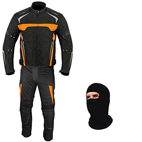 Motorfiets Pak - Motorfiets Armor Bike Rider 2-delige Racing Waterdichte Sport Pak Alle Weer Het dragen van CE Armour Voor Heren Jongens 34 Chest/28 Wasit - 32 Leg ORANJE