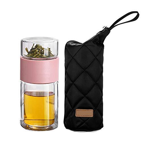 Scucs Glaswasserflasche Doppelschichten Tee Wasserflasche Infuser Tumbler Drinkware Smart Bottle Teefilter