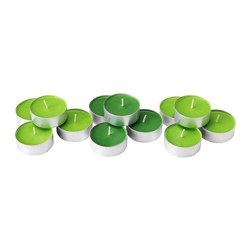 IKEA sinnlig–Duftkerze in Metall Tasse, Crisp Apple, grün/12pack/12pack–40x 37x 60cm
