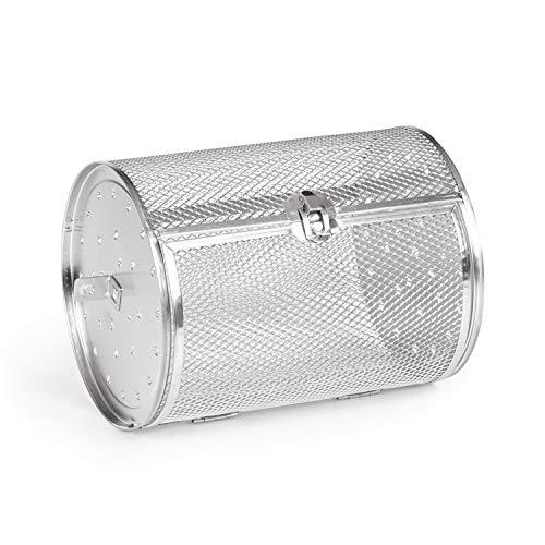 KLARSTEIN AeroVital Cube Chef - Cestello Rotante, Cestello per Friggitrice ad Aria, Accessorio, Acciaio Inox