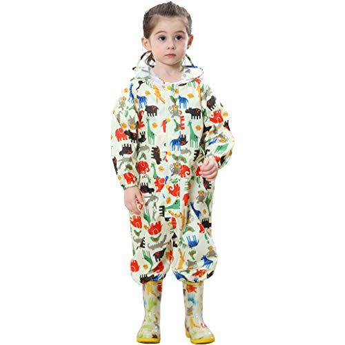 Zilee Kinder Regenanzug Wasserdicht Regen-Overall Regenmantel Jungen Mädchen Regenkleidung Regenjacke Softshelljacke Regenponcho Outdoorjacke für Schule,Fussball,Wandern