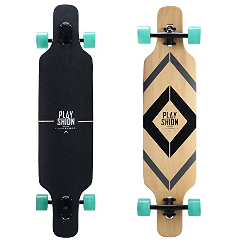 Playshion 39' Longboard Drop-Through Freestyle Skateboard Cruiser