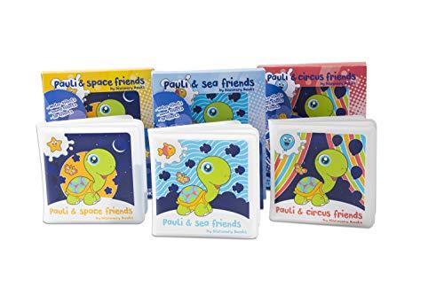 Pauli & Friends Badebücher   3er-Set mit einzigartigen Funktionen   für Kinder von 0-4 Jahre