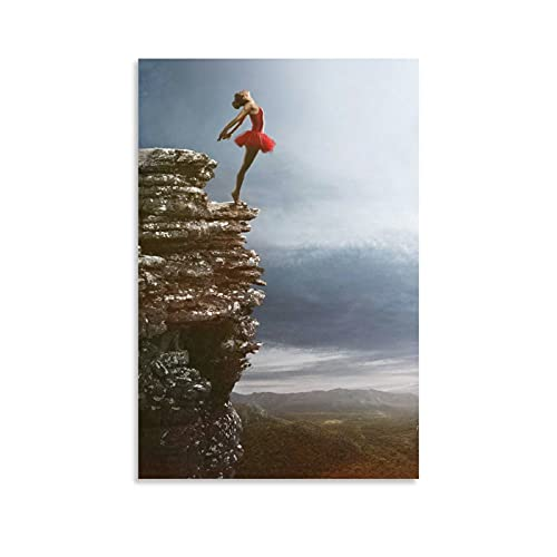 FEGASDF Art Ballet Girl On Rocks Canvas Painting Wall Art Pictures for Living Room Bedroom Study Quadros Home Decor No Frame