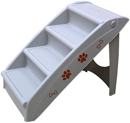 Haustier Bett Treppe faltbare leichte Leiter Tragbare Rampe Klapptreppen Haustiere Treppen Nonlip 4-stufig Haustierleiter für Hallen und Katzen (Farbe: grau) yqaae (Color : Gray)