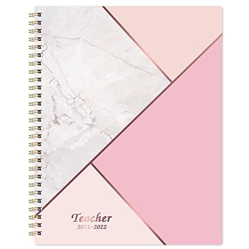 Teacher Planner 2021 2022 - Teacher Planner de julio de 2021 a junio de 2022, 24,6 x 19 cm, libro de planes de lecciones, planificador de lecciones semanal y mensual