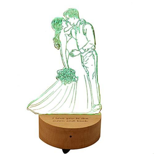 Foto personalizada Lámpara de cristal 3D Luz nocturna con altavoces LED Lámpara de mesa Reproductor de música para