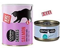 Cosma Snackies XXL Maxi Tube Salmon (150g): Healthy, great tasting salmon for a special treat Cosma Snackies XXL now come in a convenient, maxi tube which can be resealed. This means there are more scrumptious cat snacks so your cat can enjoy them fo...