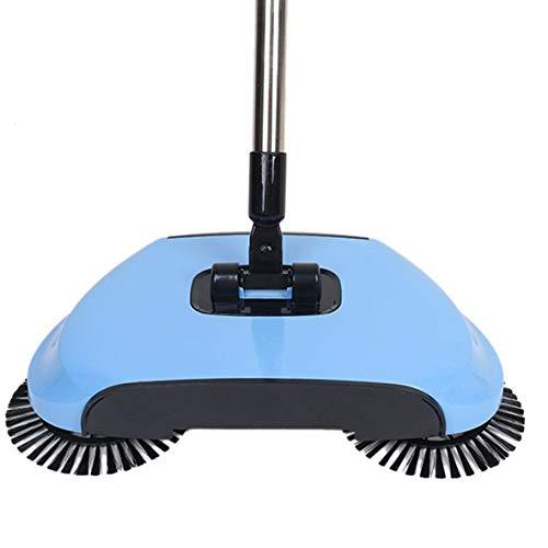 Cosye Kehrmaschine Hand Push Haushaltsstaubsauger Blau Kehrmaschine Home Push Typ Besen Set Geschenk Zweihand Push Kehrmaschine