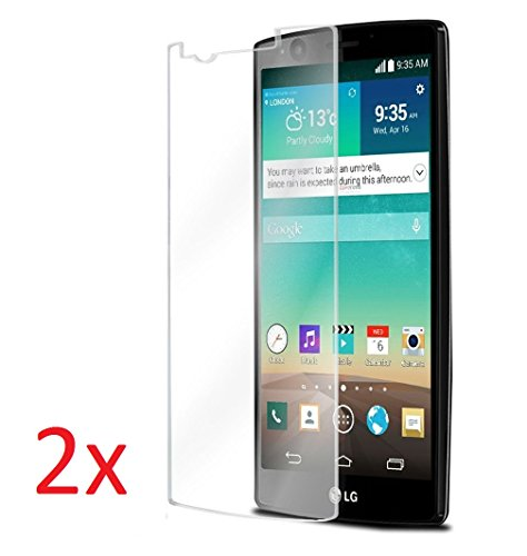 eTECH Collection 2 Piece of Premium Tempered Glass Screen Protector for LG G4 (0.3mm) 9H Hardness/Scratch Proof/Bubble Free/Oleophobic Coating/Transparent Crystal Clear from USA