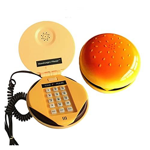 BTMING Novedad emulatoria Hamburguesa telefono teléfono teléfono Fijo decoración del hogar