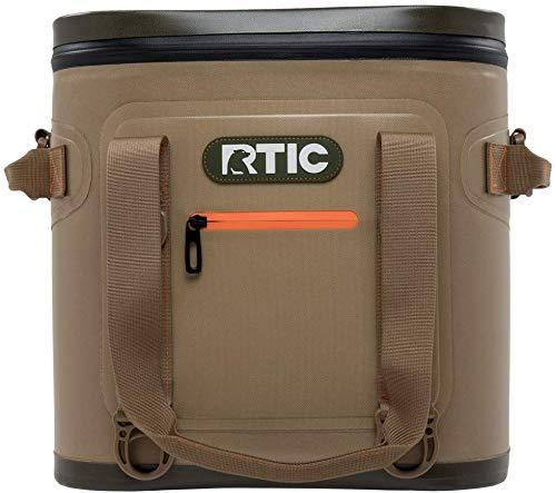 RTIC Soft Cooler 20, Tan, Insulated Bag, Leak...