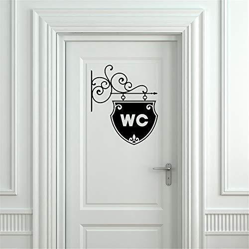 Sencillo Vida Pegatinas de baño vinilo adhesivo Decorativo Pegatina Pared Decoración del hogar Pegatina para Puerta Habitación barato