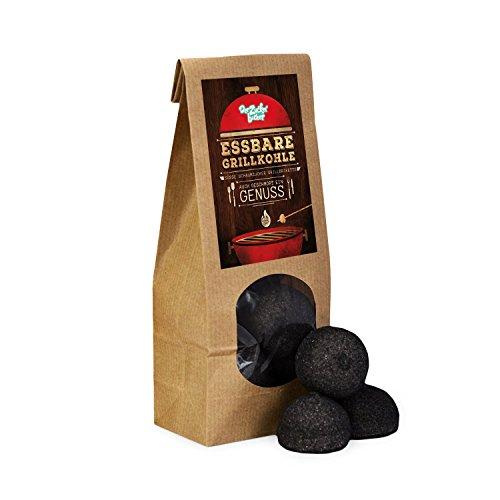Die essbare Grillkohle, schwarze Grillkohle-Briketts, tolle Geschenk-Idee für Grill- und Garten-Partys