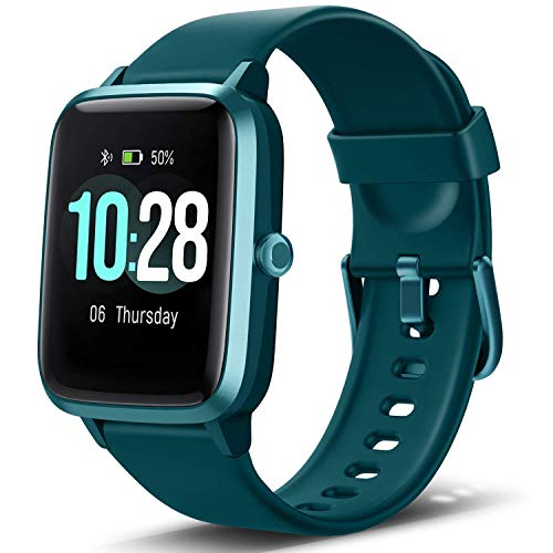 """Letsfit Smart Watch, Fitness Tracker with Heart Rate Monitor, Activity Tracker with 1.3"""" Touch Screen, IP68 Waterproof Pedometer Smartwatch with Sleep Monitor, Step Counter for Women and Men (Renewed)"""