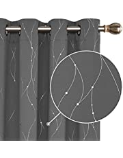 Deconovo Modern Bedroom Curtains Curtains Children's Room Thermal Curtains with Eyelets