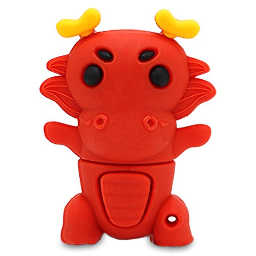 818-Shop No9080004 Hi-Speed USB-stick (2/4/8/16/32/64 GB) dierenriemteken draak rood 8GB rood