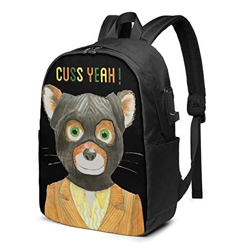 Mr. Fox USB Bapa Carry On Bags 17 Inches Laptop Bapa for Travel School Busin