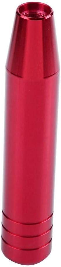 Red Gear Shift Knob Cuque 18cm 7.1in Car Gear Shift Shifter Knob Universal Automobile Head Handle Lever Aluminum Alloy Auto Gear Shift Knob Head