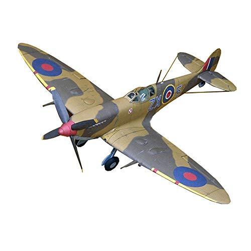 ELVVT 01:33 Britse Spitfire IXc Fighter Model puzzel Toy DIY 3d puzzels Handmade Model Building Kits Gifts Toy