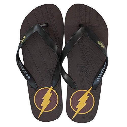 Dc Comics Herren-Flash-Comic Flip Flop Sandale, Maroon, XL M Us