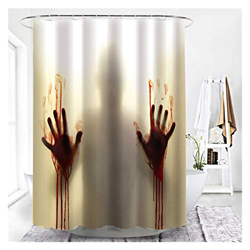 DWSLY Sencillez Cortinas de Ducha Blackout Impreso Animal para baño Cortina de poliéster 3D Impermeable de poliéster para baño Bañera para Inodoro de baño (Color : YL433, Size : 180x220cm)