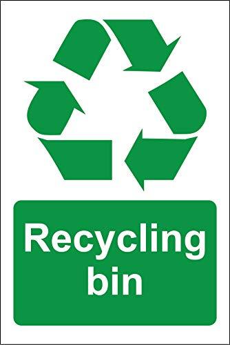 Cartel de reciclaje para papelera (200 x 150 mm)