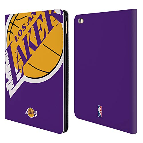 Head Case Designs Oficial NBA Oversized Icon Los Angeles Lakers Carcasa de Cuero Tipo Libro Compatible con iPad Air 2 (2014)