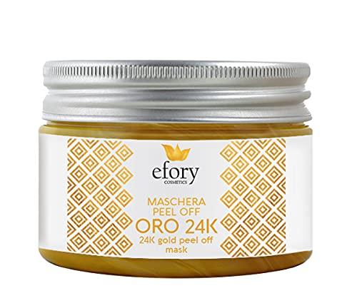 Efory Cosmetics Maschera Peel Off Oro 24K Maschera Viso Rimuove Impurità, Punti Neri Ed Ha Effetto Esfoliante E Rivitalizzante - 150 ml