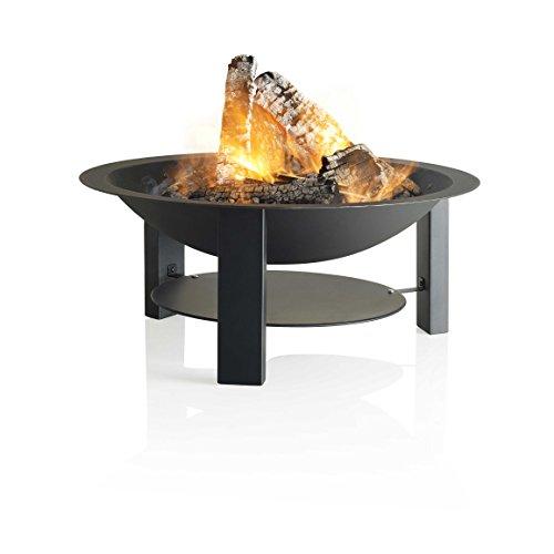 Barbecook Feuerschale für den Garten aus lackiertem Gusseisen 3-Beine Ø 75-cm bis 400 Grad hitzebeständig, schwarz