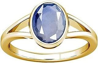 GEMS HUB 4.8 Ct. 5.25 Ratti Blue Sapphire Ring (Nilam/Neelam Stone Panchdhatu Ring) 100% Original AAA Quality Gemstone