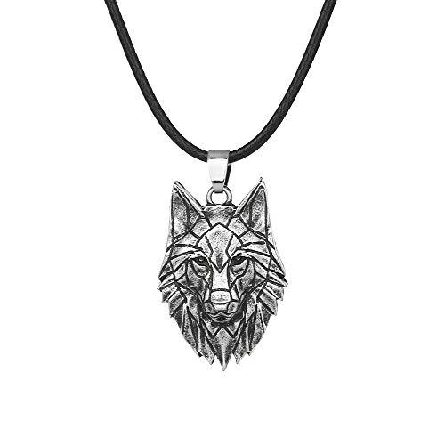 Naswi 1 Uds, Collar De Lobo De Origami Geométrico, Collar De Animal Salvaje, Joyería Y Accesorios, Collares De Cadena