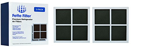 Fette Filter - Refrigerator Air Filter Compatible with LG LT120F. Compare to Part # ADQ73334008 & ADQ73214404 – (2-Pack)