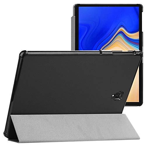 ebestStar - Cover Compatibile con Samsung Galaxy Tab S4 10.5 SM-T830, SM-T835 Custodia Slim Smart Case Pelle PU Sottile con Funzione Supporto, Nero [Apparecchio: 249.3 x 164.3 x 7.1mm, 10.5'']