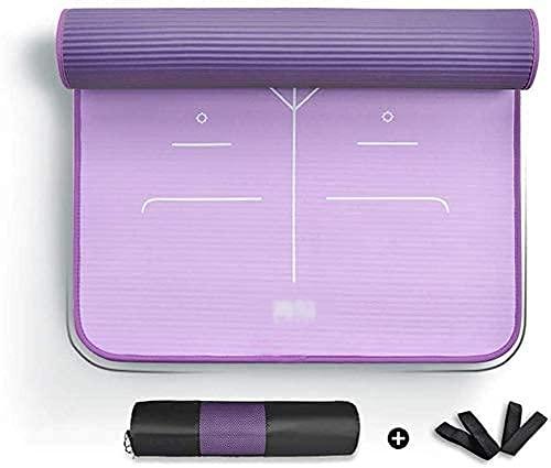 Grande esercizio di yoga tappetino da 10 mm NBR Fitness Schiuma MAT UTILIZZO DA BUONE SEDILE DURABILE E LACCHIALE RESISTENZA, GRANDE PER VIAGGIO, CLASSE DI YOGA, Allenamento per esercizi all'aperto